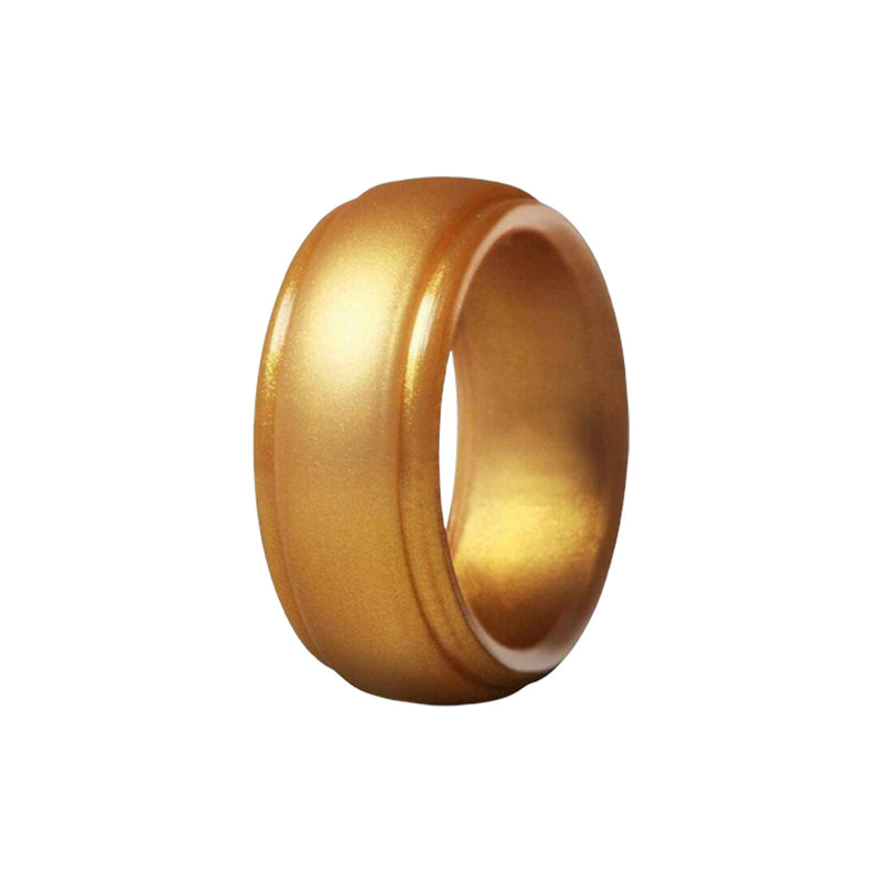 Edge - Gold Silicone Rings |  halobands