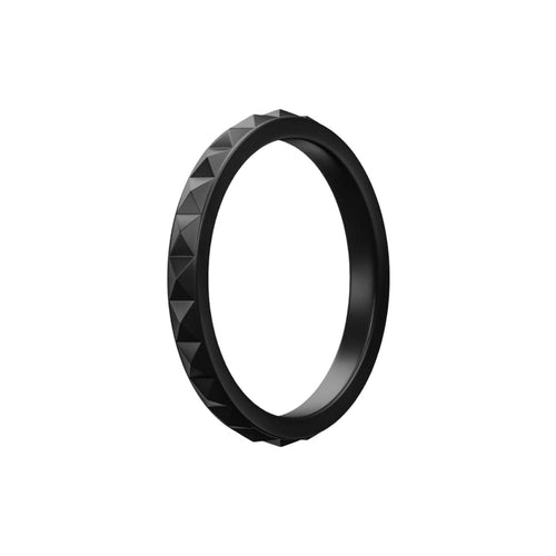 Geo - Black Silicone Rings |  halobands