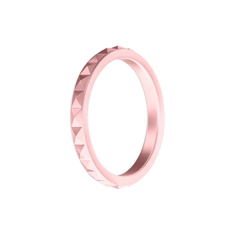 Geo - Blush Gold Silicone Rings |  halobands