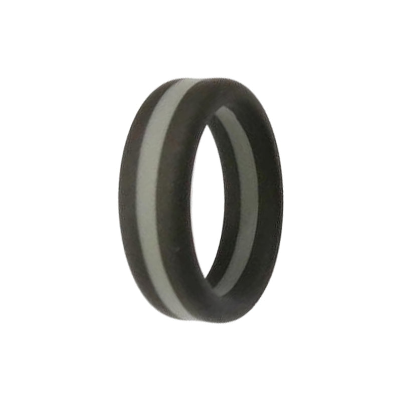 Layered -  Black Grey Silicone Rings |  halobands