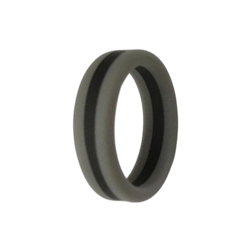 Layered - Grey Black Silicone Rings |  halobands