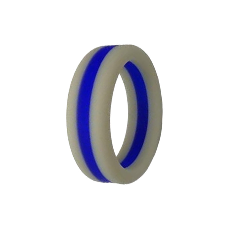 Layered - Grey Blue Silicone Rings |  halobands