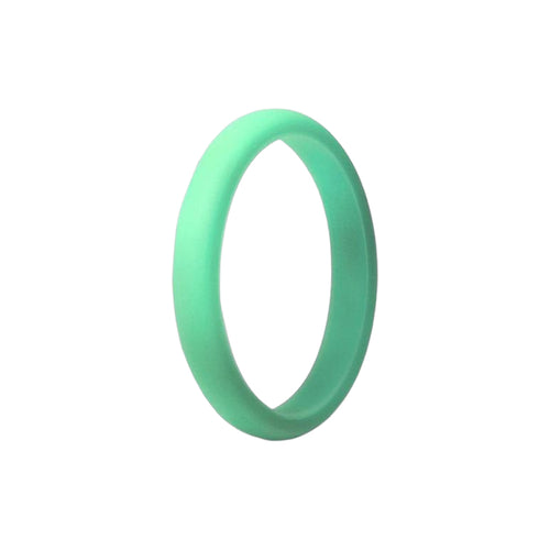 Narrow Smooth Ring - Mint Silicone Rings |  halobands