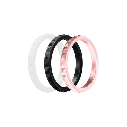 Geo Pack - Tonal Metallic Silicone Rings |  halobands