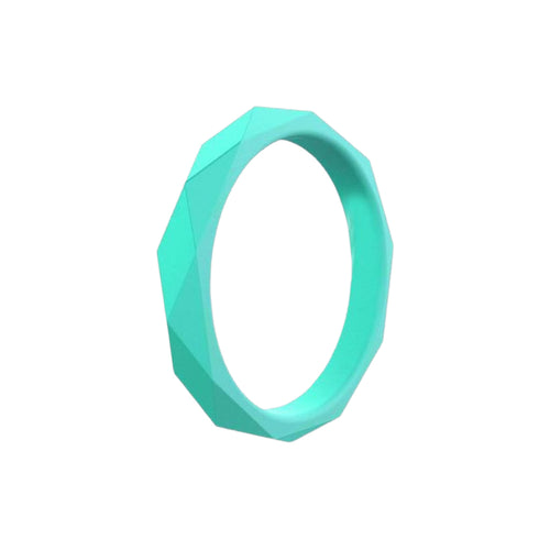 Prism Ring - Aqua Silicone Rings |  halobands