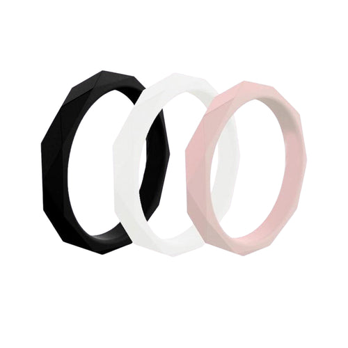 Prism Ring - 3 Pack Blush Silicone Rings |  halobands