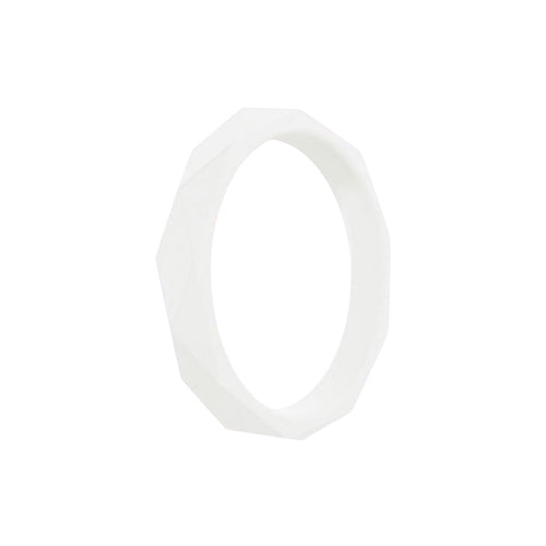 Prism Ring - White Silicone Rings |  halobands