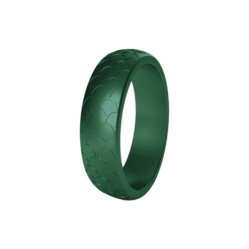 Scale - Emerald Green Silicone Rings |  halobands