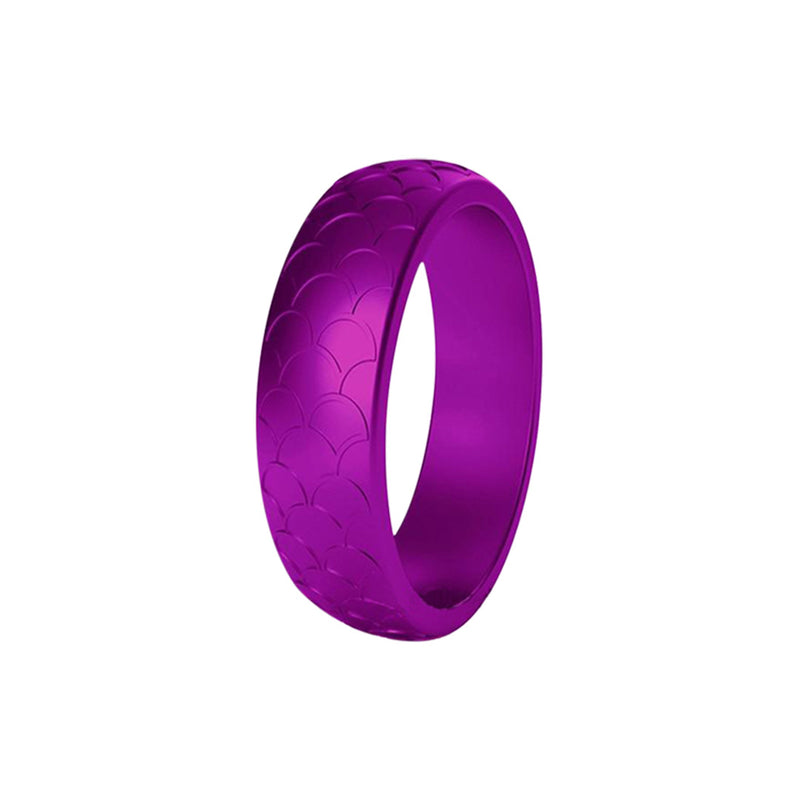 Scale - Purple Silicone Rings |  halobands