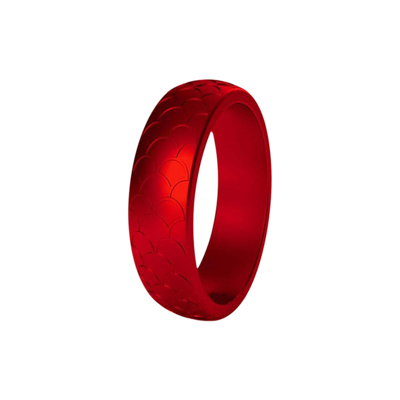 Scale - Red Silicone Rings |  halobands