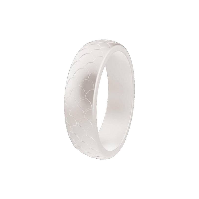 Scale - White Silicone Rings |  halobands