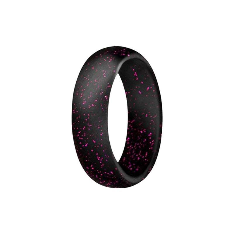 Smooth - Pink Speck Silicone Rings |  halobands
