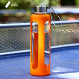 gourde en verre sport orange