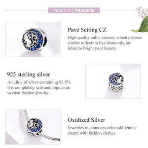 Moon & Star Cat Blue Enamel Charm
