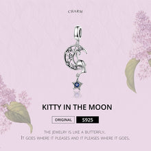 Load image into Gallery viewer, Moon & Stars Floating Cat Charm