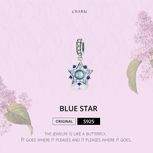 Dazzling Blue Star Dangle Charm