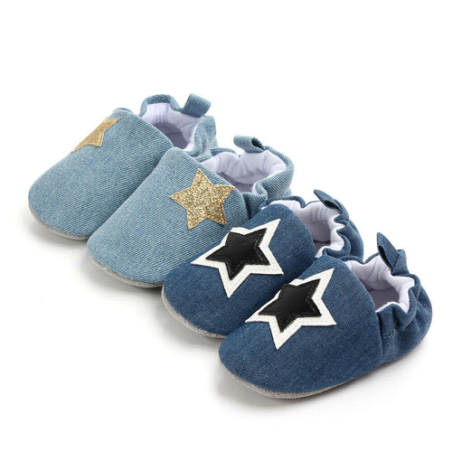 Baby Star Soft Sole Crib Shoes