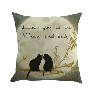 Love You To The Moon and Back Pillow Case