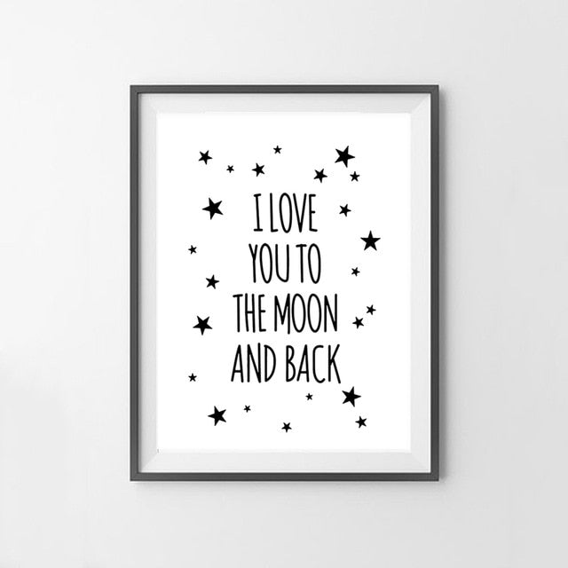 I Love You To The Moon And Back Canvas Art Print