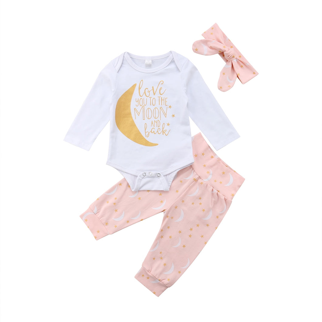Infant Baby Girl 3 Piece Set (6-24M)