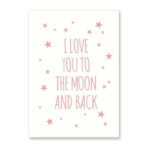 I Love Your Moon And Back Canvas Print