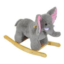 Load image into Gallery viewer, Kids Plush Ride On Elephant-Grey