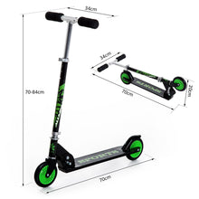 Load image into Gallery viewer, Adjustable Aluminium Kids Scooter-Green