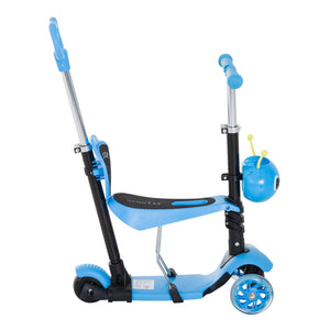 5-in-1 Kids Kick Scooter W/Removable Seat-Blue