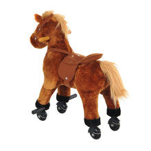 Load image into Gallery viewer, Kids Rocking Horse with Rolling Wheels and Sound-Brown