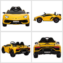 Load image into Gallery viewer, Lamborghini SVJ 12V Electric Ride on Car - Yellow