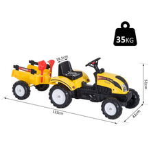 Load image into Gallery viewer, Kids Pedal Go-Kart Ride-On Tractor w/ Rake on Four Wheels