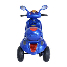 Load image into Gallery viewer, Plastic Music Playing Electric Ride-On Motorbike w/ Lights Blue