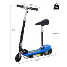 Load image into Gallery viewer, Electric Ride on Scooter, 120W-Blue