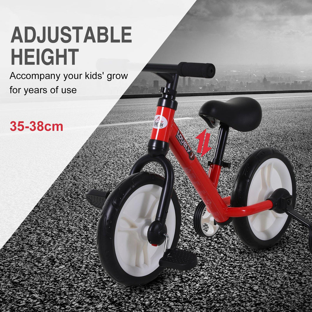 PP Toddlers Removable Stabiliser Balance Bike Red