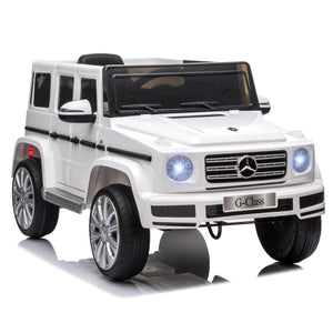 Mercedes Benz G500 12V Kids Electric Ride On Car - White