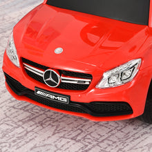 Load image into Gallery viewer, Toddlers Licensed Mercedes-Benz Ride On Stroller Red