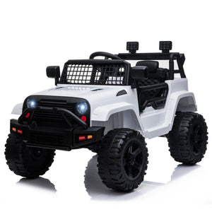 12V Kids Electric Ride On Car Truck  - White