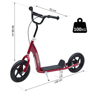 "12"" Tyres Scooter-Red"