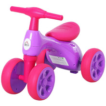 Load image into Gallery viewer, Toddler Training Walker Balance Ride-On Toy with Rubber Wheels Purple