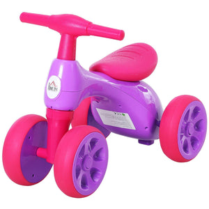Toddler Training Walker Balance Ride-On Toy with Rubber Wheels Purple