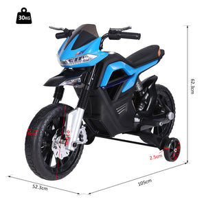 Ride On Kids Electric Motorbike 6V Battery Powered with Brake Lights and Music Blue