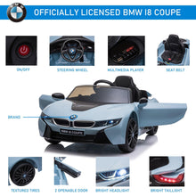 Load image into Gallery viewer, Kids 6V Battery Licensed BMW Ride On Car Blue