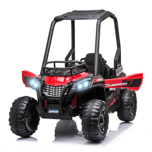 12V Kids Electric Ride On Car Off-road - RED