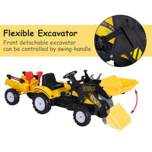 Load image into Gallery viewer, Kids Pedal Go Kart Excavator-Yellow