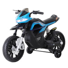 Load image into Gallery viewer, Ride On Kids Electric Motorbike 6V Battery Powered with Brake Lights and Music Blue