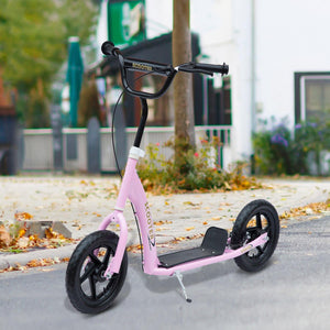 "12"" Tyres Teen Push Stunt Bicycle Ride On Scooter-Pink"