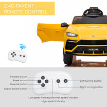 Load image into Gallery viewer, Lamborghini Urus 12V Kids Electric Ride On Car - Yellow