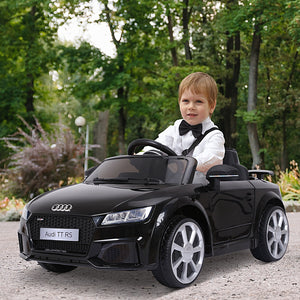 Kids Licensed Audi TT Ride-On Car 6V Battery w/ Remote Suspension Headlights and MP3 Player 2.5-5km/h Black