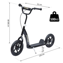 "Load image into Gallery viewer, 12"" Tyres Scooter-Black"