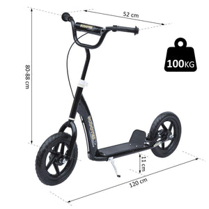"12"" Tyres Scooter-Black"